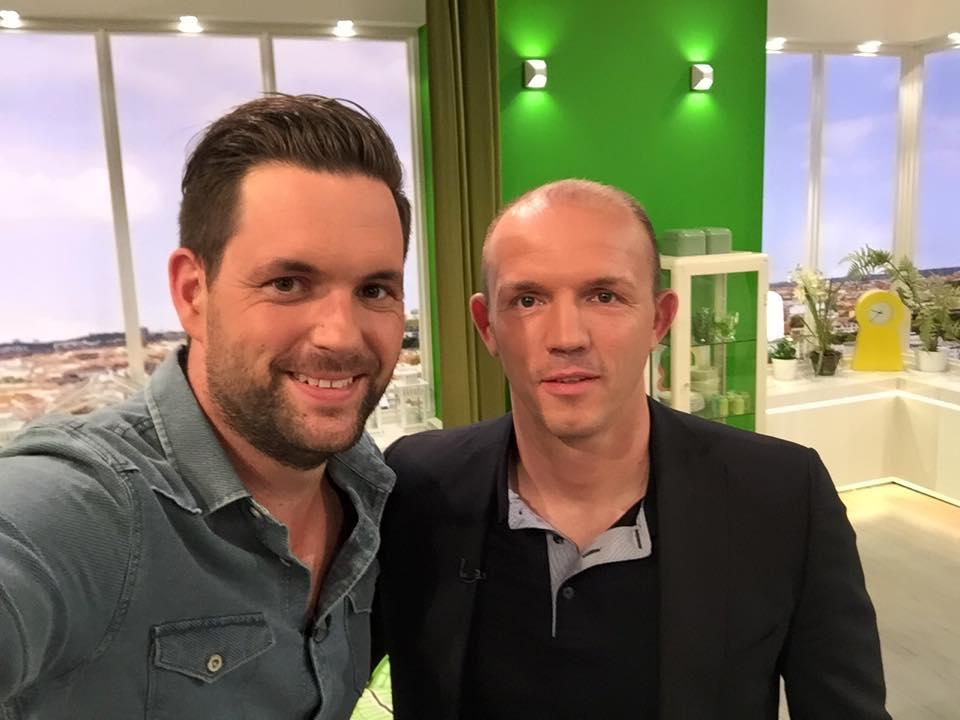 Moderator Matthias Killing und Box-Weltmeister Jürgen Brähmer